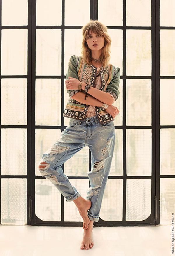 Moda primavera verano 2018 looks tendencia de moda mujer verano 2018 Rapsodia primavera verano 2018.
