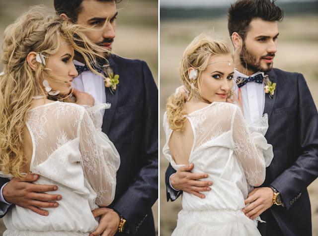 Ślubna ozdoba do włosów z piórami, PiLLow Design