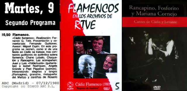 RANCAPINO DE CHICLANA EN DVD PROGRAMAS DE TV