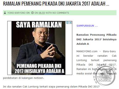 Penghitungan cepat atau quick count PILGUB DKI JAKARTA 2017