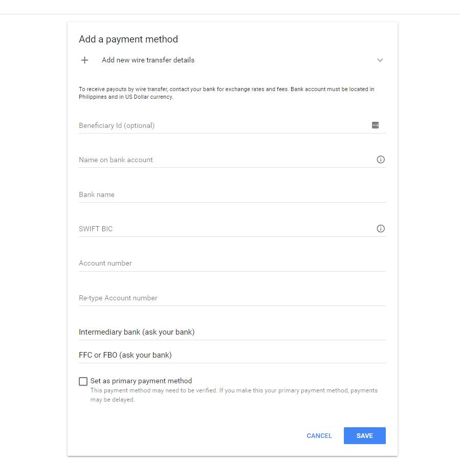 Claim Your Google Adsense Earnings Through Unionbank Of The