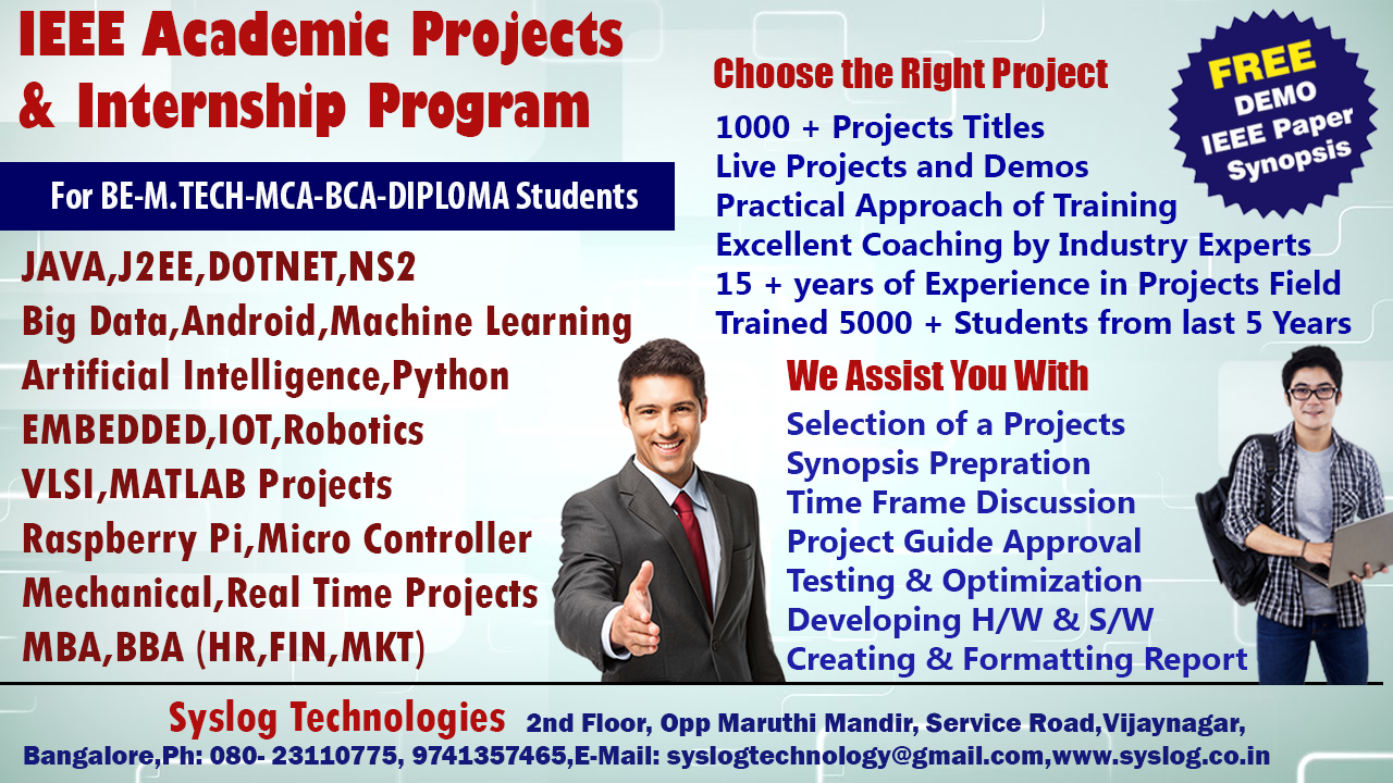 Syslog Technologies: Final Year Projects for BE,M Tech