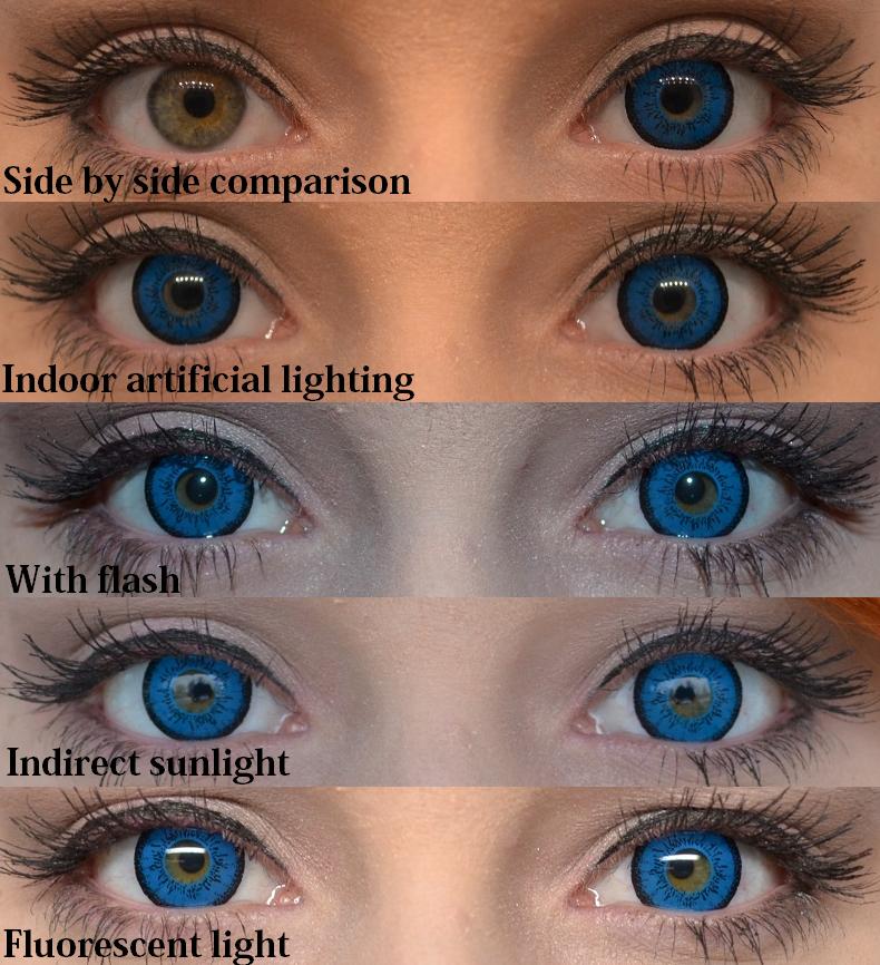 chroma cosplay eos dolly eye blue circle lens review