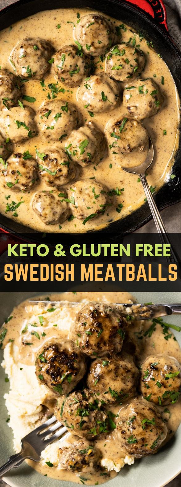 GLUTEN FREE & KETO SWEDISH MEATBALLS #familyrecipes #ketogenic