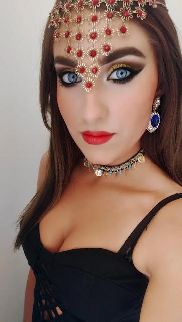 arab girl, arabic makeup