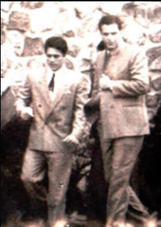 John Alite, left, with Ronnie One-Arm.