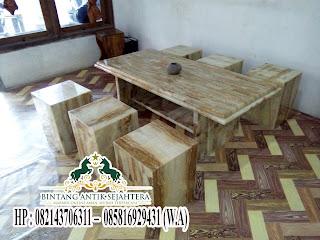 Meja dan Kursi Batu Onix