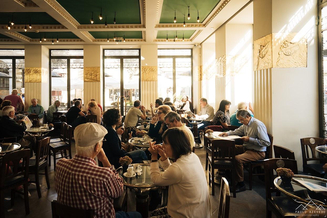 Interior do café A Brasileira, Braga