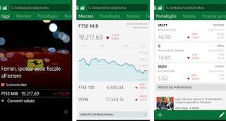 app MSN Money - Quotazioni