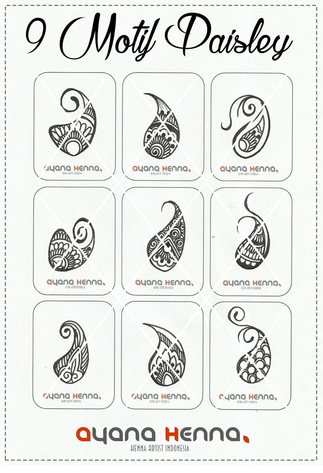9 Motif Paisley Ayana Henna