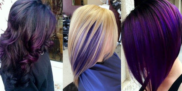 sexy purple highlights the haircut web