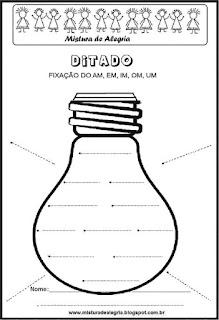 Treino ortográfico am de lâmpada