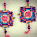 Colorful Macrame Cross Earrings Tutorial