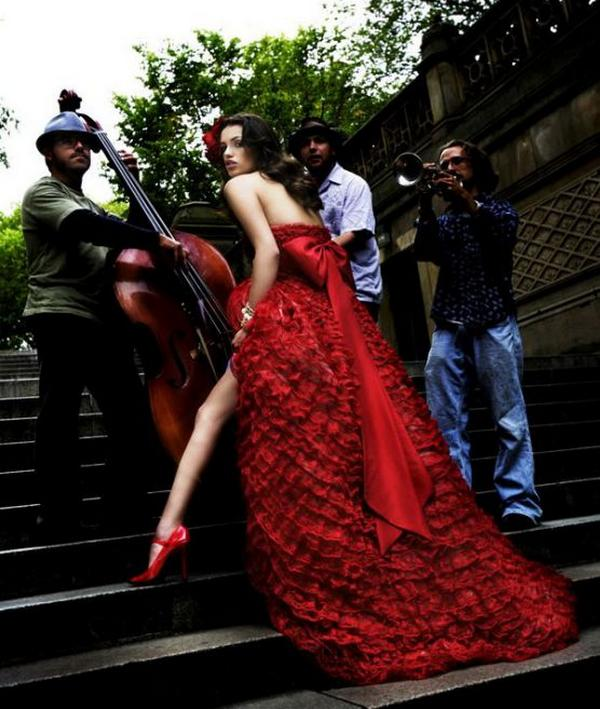 Beautiful Red And White Wedding Dress: Top Commerecial Print: Beautiful Women Red Dress