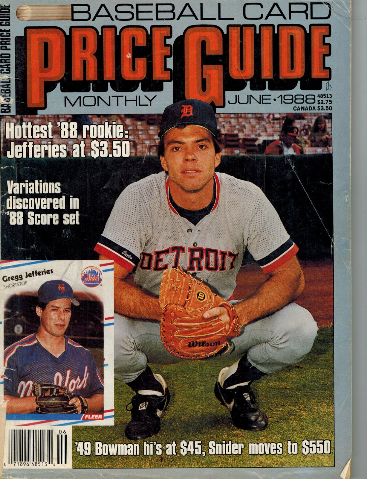 From A 1980s Baseball Card Collector June 1988 Baseball