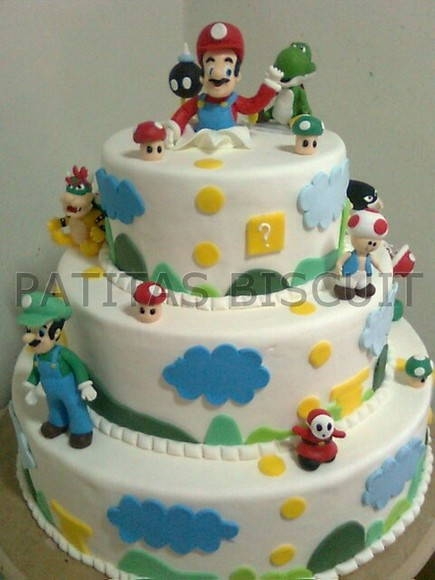 Bolos decorados Super Mario Bros Elo 7