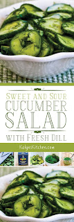 Sweet and Sour Cucumber Salad with Fresh Dill from KalynsKitchen.com