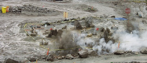 Blasting explosives for compaction of foundation soil