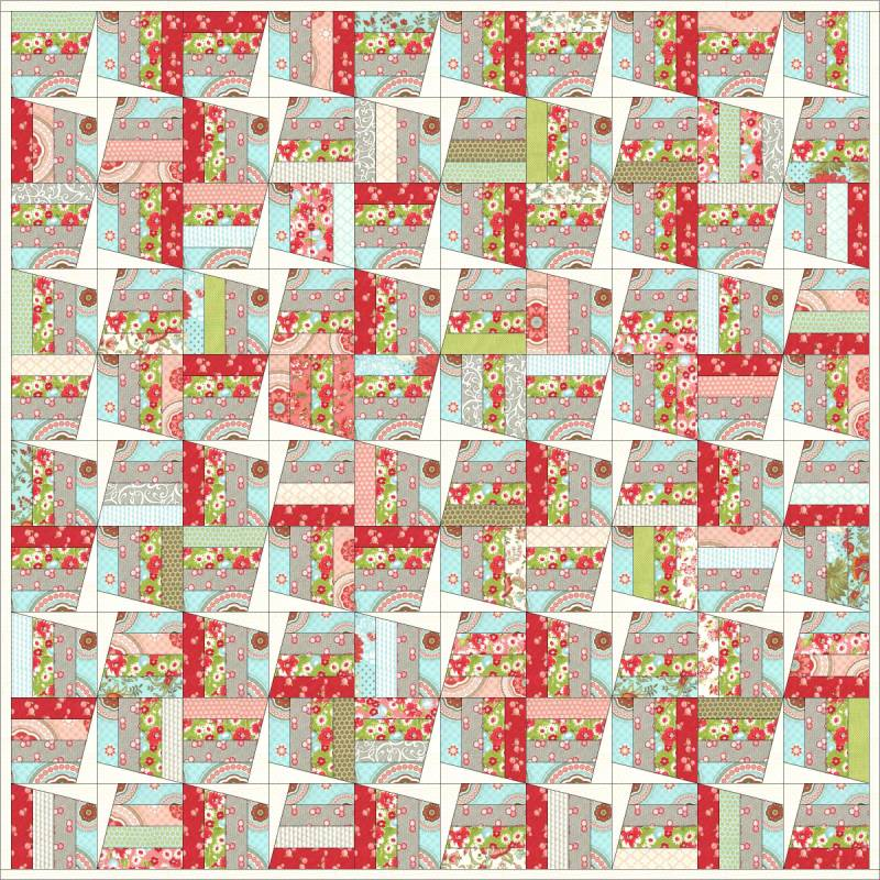 Are Moda three strip pinwheel quilt pattern