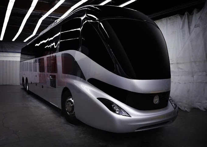 Gaffoglio Family Metalcrafters, presenta un proptotipo de bus eléctrico equipado con fibra de carbono