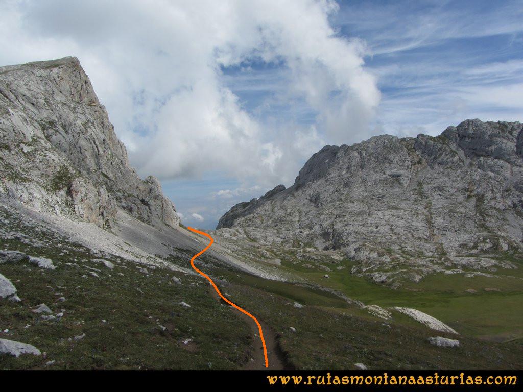 Ruta el Cable, Padiorna, Collado Jermoso, Palanca, Fuente De: Vega de Liordes, hacia la canal del Embudo
