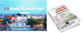 Keutamaan shalat : Beda Masjid Lain Nilainya buku Kalender Islam Dunia