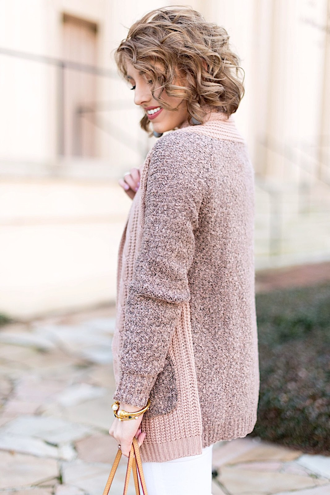 Mix Knit Cardigan (Under $60) - Click through for the full post on Something Delightful Blog!