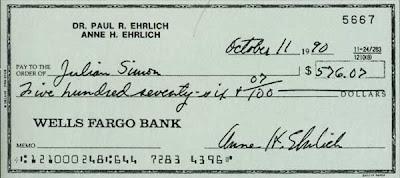 Cheque bancario en economia