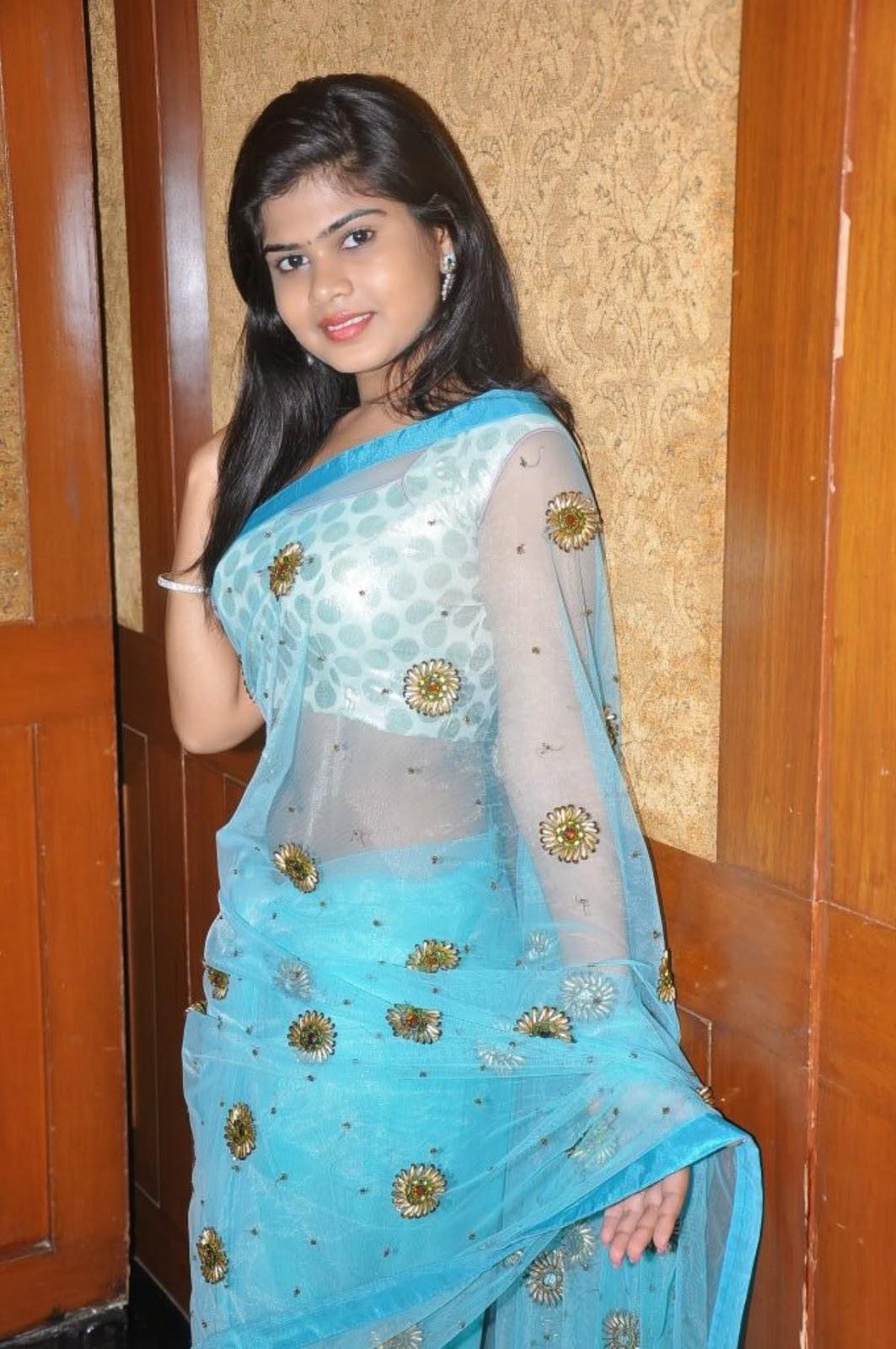 Transparent Saree: Actress Alekhya Transparent Saree Photos