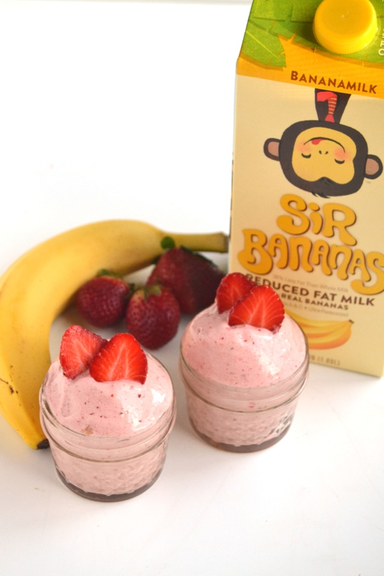This 3-Ingredient Strawberry Banana Ice Cream takes 3 minutes to make and is much healthier than your typical ice cream but still delicious! www.nutritionistreviews.com