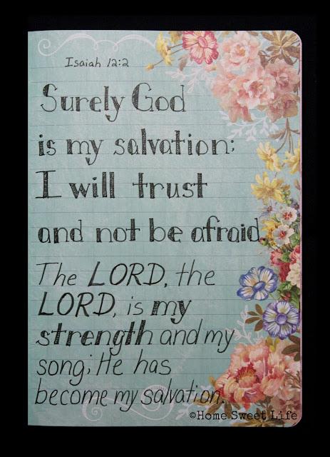 Scripture Writing, Isaiah 12:2