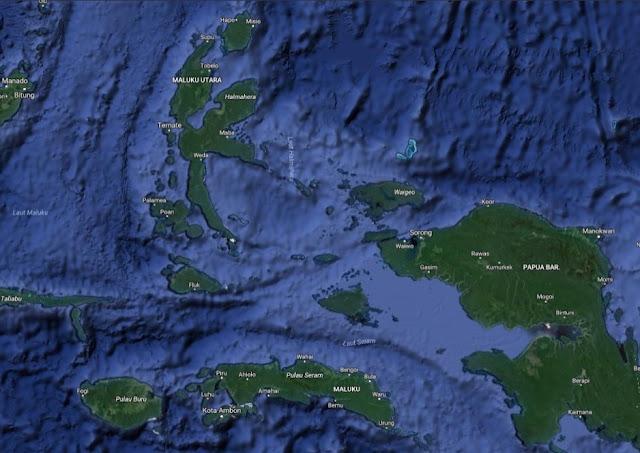 Sejarah awal kerajaan maluku, peta kepulauan maluku