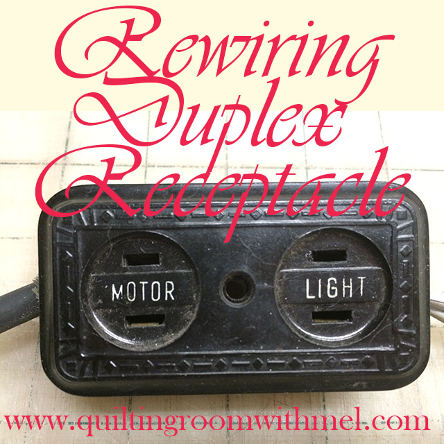 Duplex Receptacle Diagram Residential Water Softener Hook Up Rewiring A On Vintage Sewing Machines The