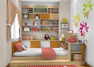 Dekorasi Kamar Anak Perempuan Sederhana