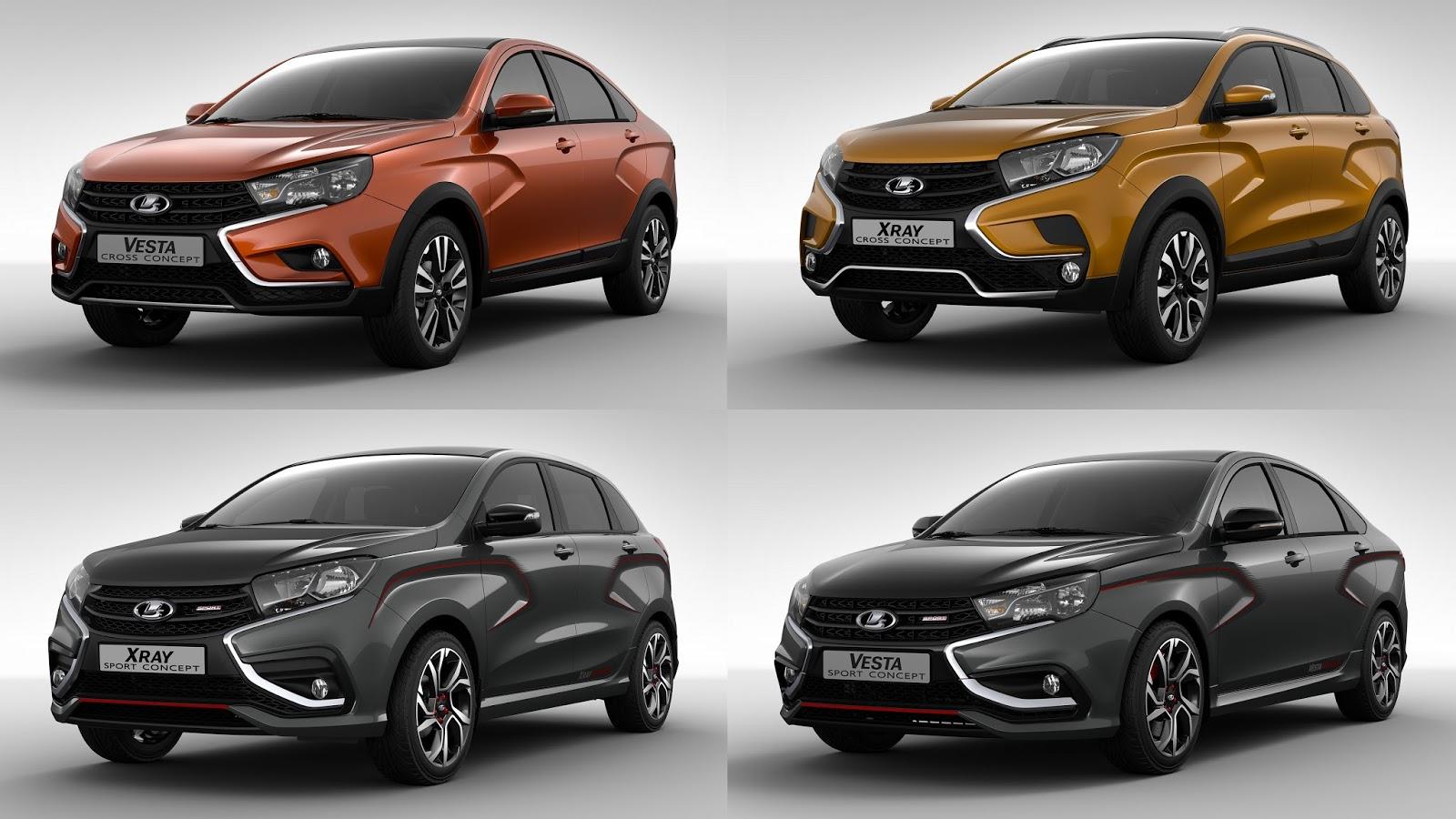 La familia del futuro lada presenta cinco versiones for Lada 09 salon