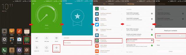 Cara Menampilkan Kontak Whatsapp di Xiaomi Redmi Note 3 Pro