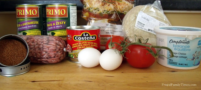 Mexican lasagne ingredients