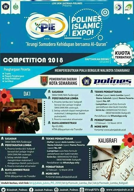 Lomba Islami Polines Islamic Expo (PIE) 2018 Politeknik Negeri Semarang