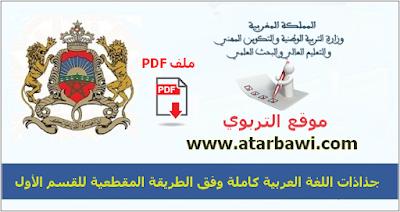 جذاذت اللغة العربية وفق الطريقة المقطعية المستوى الأول ابتدائي