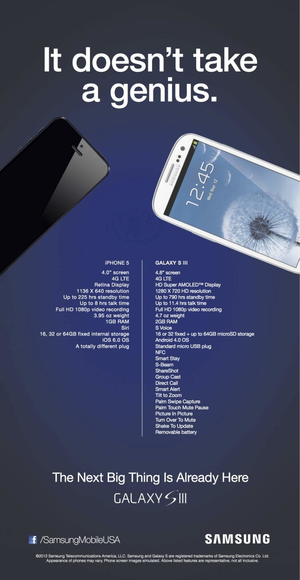 Galaxy S III VS. iPhone 5