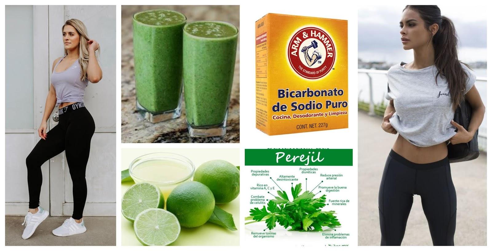 Bajar de peso con limon y bicarbonato