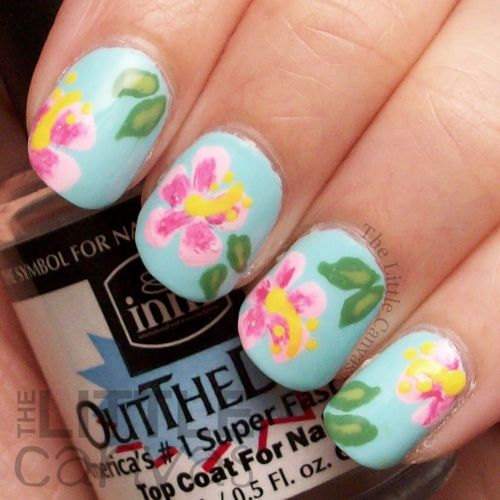 Hibiscus Flowers Inspired By Nailstorming The Little Canvas