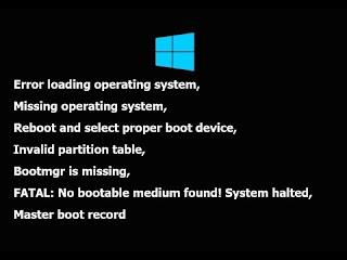 Cara Memperbaiki Window Error Loading Operating System Paling Mudah