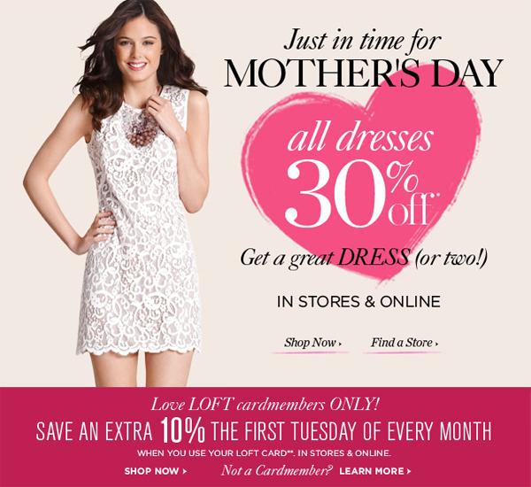 50% Off Full-Price Dresses at LOFT