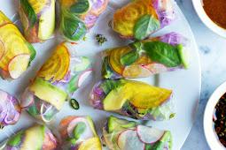 Fresh Sushi Spring Rolls #vegan #recipevegetarian