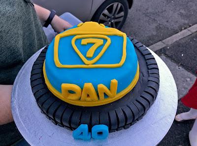 Handmade 40th Birthday Cake