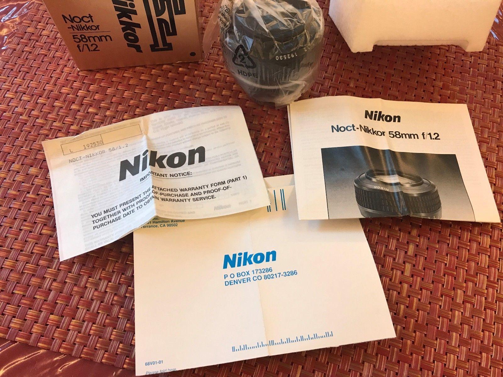 Комплектация Nikon Noct-Nikkor 58mm f/1.2