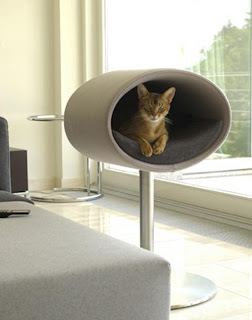 Modern furniture design, leather furniture for cats, cat cave