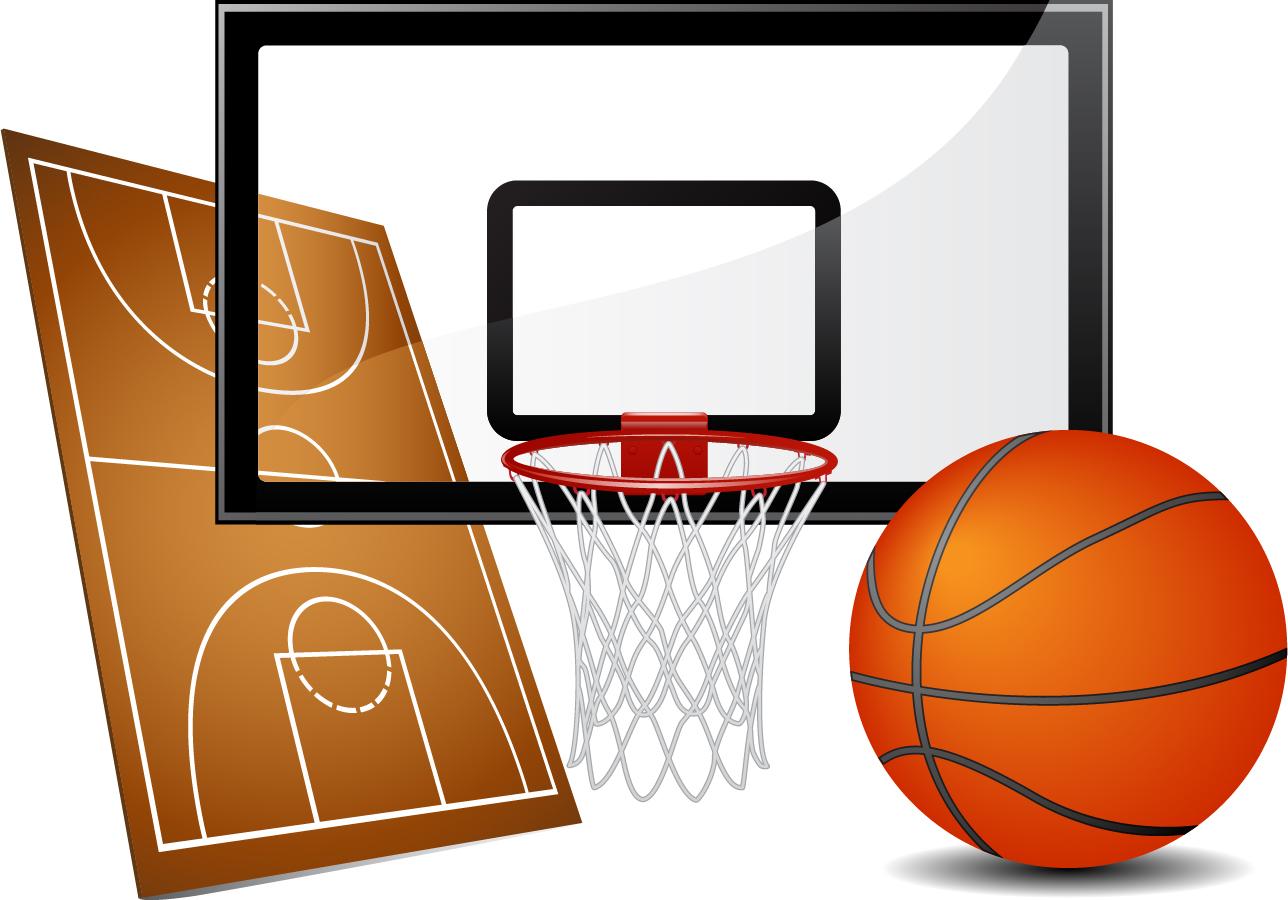 バスケットボール関連素材 basketball courts vector material イラスト素材 | ai eps イラストレーター