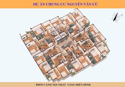 Mặt bằng điển hình chung cư mini Nguyễn Văn Cừ - Long Biên